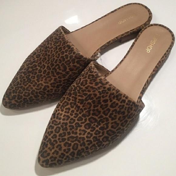 adbb2d5291 Topshop Angelina Flat Cheetah Print Mule
